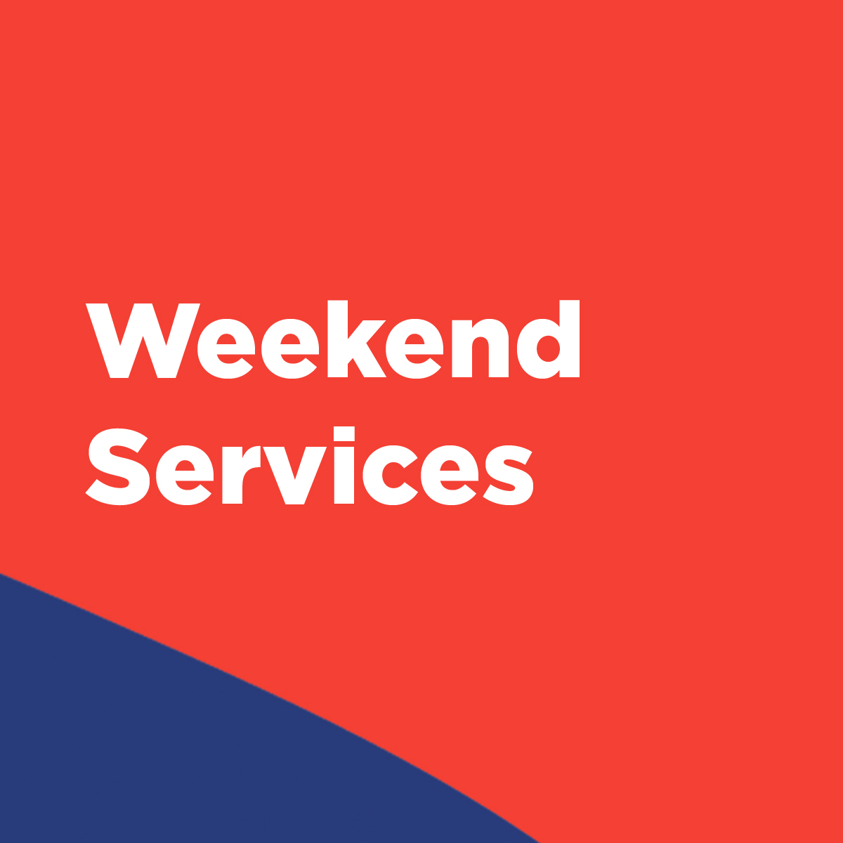 Thanksgiving Weekend Services